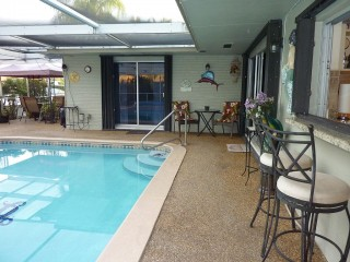 Beautiful Water View Solar Heated Pool